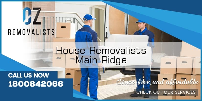 House Removals Main Ridge