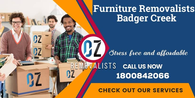 Furniture Removals Badger Creek